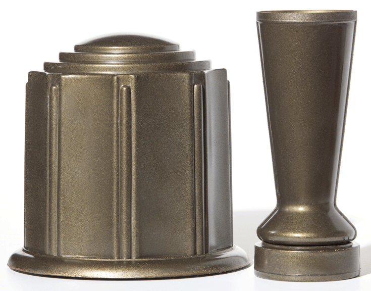 Antiqued Urn & Vase Canister Set